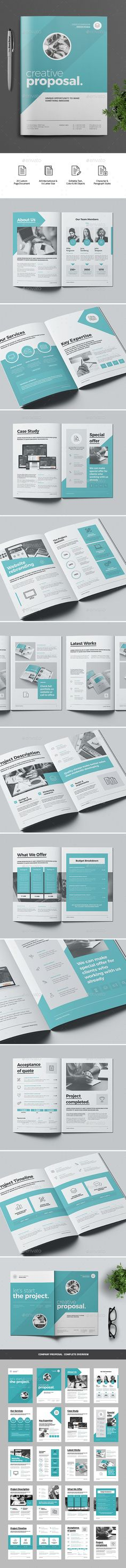 Proposal Template InDesign INDD