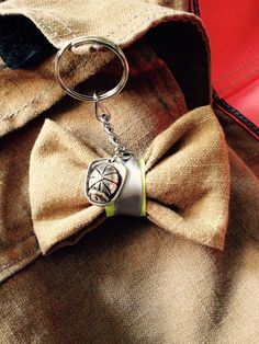 Bunker Gear Keychain Bow With Charm by Firefightersgirls on Etsy