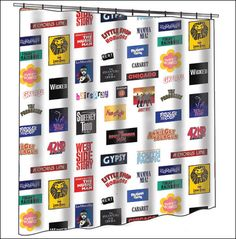 The Broadway Cares Classic Collection - Show Logos Shower Curtain