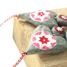 Christmas decoration, made of paper mache beads. 100% recycled paper.