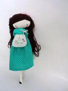 Muñecos - Isabella muñeca de tela muñeca de trapo - hecho a mano por lassandaliasdeana en DaWanda