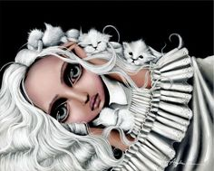 size: Stretched Canvas Print: Beatrix by Angelina Wrona : Entertainment Using advanced technology, we print the image directly onto canvas, stretch it onto support bars, and finish it with hand-painted edges and a protective coating. Fine Art Posters, Apple Art, Galerie D'art, Pop Surrealism, Canadian Artists, Painting Edges, Stretched Canvas Prints, Big Eyes, Fantasy Art