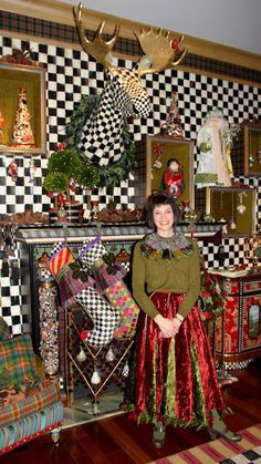 Rebecca Proctor-Creative Director of Mackenzie-Childs! Shadow boxes on wall to be changed out with seasons! Funky Furniture, Paint Furniture, Kids Furniture, Mackenzie Childs Furniture, Mackenzie Childs Inspired, Shabby, Christmas Decorations, Holiday Decor, Art Nouveau