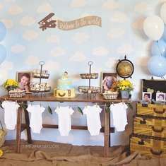 A Vintage Travel Themed Welcome Baby Party - Travel / World / Countries