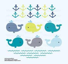 Circo 174 4pc Crib Bedding Set Whales N Waves Nursery