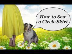 How to sew a circle skirt The Rachel Dixon retro tutorial DIY 40's 50's vintage pinup - YouTube