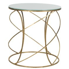 Safavieh Treasures Cagney Gold/ White Top Accent Table | Overstock.com