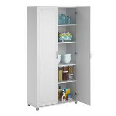 $197 - Prepac 'Winslow Elite' White 2-door Standing Cabinet ...