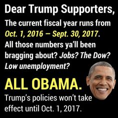 Wake Up TRUMPETS! Thank Obama!!!
