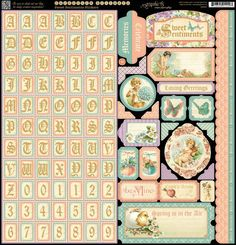 """Items similar to Graphic 45 """"Sweet Sentiments Stickers on Etsy Graphic 45, Scrapbook Paper Crafts, Scrapbook Supplies, Scrapbook Stickers, Scrapbooking Ideas, Washi, Shabby Chic Theme, Alphabet Stickers, Decoupage Vintage"""
