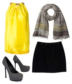 """""""Untitled #36"""" by reina-j on Polyvore featuring Erika Cavallini Semi-Couture, Steve Madden, Loeffler Randall and Yves Saint Laurent"""