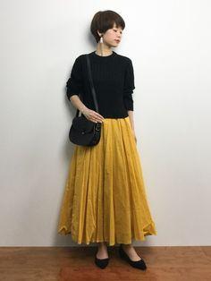 yukiさんの「SFL コットン ロングスカート(UNITED ARROWS)」を使ったコーディネート