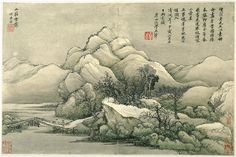 Landscapes after Ancient Masters, Qing dynasty (1644–1911), dated 1674 and 1677 Wang Hui (Chinese, 1632–1717) and Wang Shimin (Chinese, 1592–1680) Album of 12 paintings; ink and color on paper