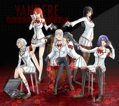 Student Council and Yandere-chan Male Yandere, Yandere Girl, Yandere Manga, Animes Yandere, Fanarts Anime, Yandere Simulator Characters, Yandere Simulator Memes, Yandere Characters, Yendere Simulator
