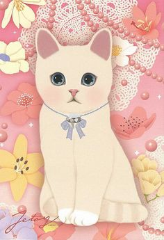 Jetoy Choo choo cat postcard - Flower 5 by PCmarja2006, via Flickr .... I would…