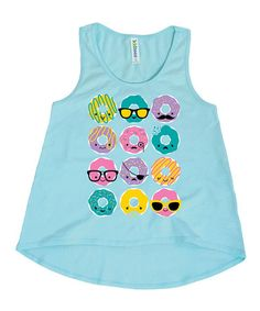Look what I found on #zulily! Mint Kawaii Donuts Hi-Low Tank - Toddler & Girls #zulilyfinds