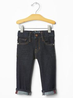 Faux-selvedge skinny jeans Product Image