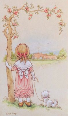 Longing for my Heavenly home. Holly Hobbie, Sara Key Imagenes, Mary May, 17th Century Art, Dibujos Cute, Decoupage Vintage, Doll Painting, Cute Illustration, Vintage Images
