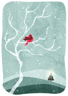 Christmas Illustration collection by Agent Illustrateur, via Behance