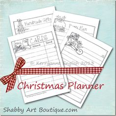 Shabby Art Boutique Christmas Planner free download