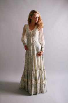 1970s maxi dress / vintage gunne sax dress / by CamilliaHeirloom