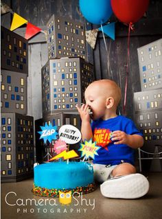 Baby Boy Smash Cake Idea <3
