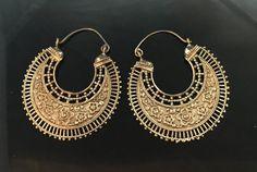 Laiton shaka hoops boucles d'oreilles oreilles par wotwjewelry