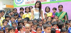 Manali Rathod's Birthday beside unfortunate kids