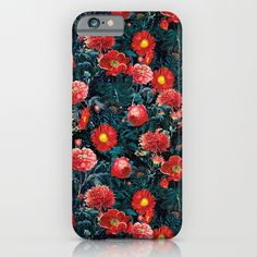 Check out society6curated.com for more! @society6 #floral #flowers #pattern #phone #case #phonecase #accessory #accessories #fashion #style #buy #shop #sale #cool #sweet #rad #awesome #fun #beautiful #beauty #pretty #botanical #iphone #products #product  #botanical #red #green #blue #yellow