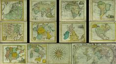 Collection2 of 12 vintage images pictures Maps 1737s от UnoPrint