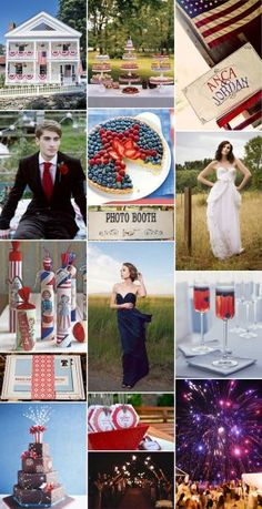 July 4 Wedding  Ideas For A 4th Of July Themed Wedding