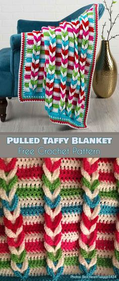 Pulled Taffy Blanket Free Pattern