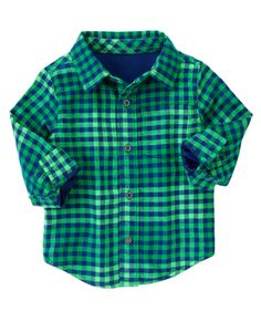 Fleece-Lined Checked Shirt at Gymboree