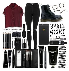"""⇒Reject⇒"" by twentyonesecondsofsummer ❤ liked on Polyvore featuring Dr. Martens, Topshop, Luv Aj, Chicwish, TokyoMilk, Bobbi Brown Cosmetics, Sephora Collection, Nails Inc., LEXON and MAKE UP FOR EVER"