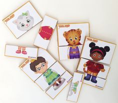 Free printable cards that allow little Daniel Tiger fans to mix and match their…