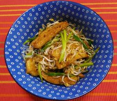 Bean Sprouts with Tofu Puff #sunnydaysrecipes ‪#‎recipes ...