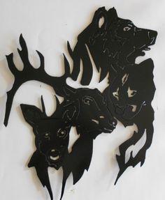 wildlife animal faces metal wall art antelope mountain lion wolf buck & 18 best Metal Art - Animals images on Pinterest | Metal wall art ...