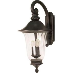 bronzewood 2 light outdoor wall lantern