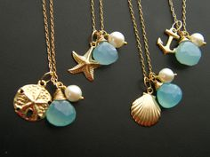 14k gold fill - $145.60, via Etsy.  So cute, Want these! (great bridal party gift/friends/sisters) need.