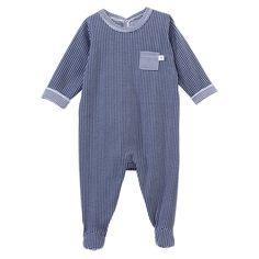 AW13 Petit Bateau - Striped sleepsuit - 27729