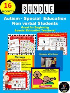 TPT SALE!  Autism Bundle Kit!  16 Products!  Special Education! Pictures; Visuals!  PECS!