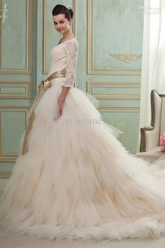 wedding dresses with sleeves off the shoulder - Google Search