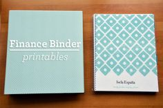 finance binder printables