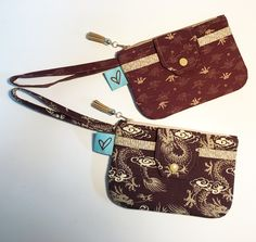 Wristlets made from Japanese cottons I have hoarded for years. Love the end result. Paper cranes and Asian dragons. Paper Cranes, Japanese Cotton, Wristlets, Dragons, Asian, Handmade, Bags, Handbags, Hand Made