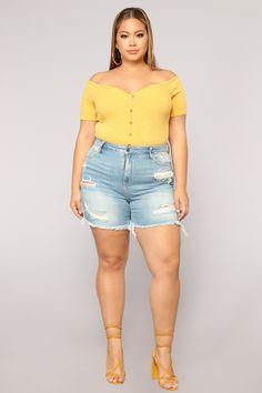 45646c7da4e26 Distressed Love Denim Shorts - Light Blue Wash. Ootd FashionCurvy FashionTrendy  FashionWomens FashionPlus Size FashionStyle ...