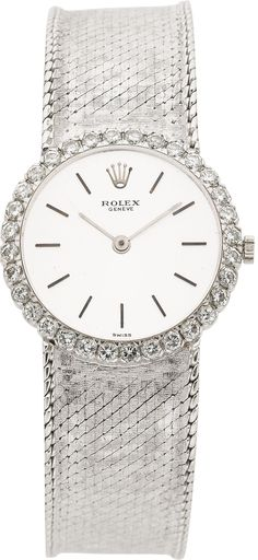 Rolex Lady's Diamond, White Gold Wristwatch, circa 1970. ... Estate | Lot #58985 | Heritage Auctions