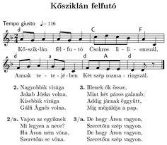 Kősziklán felfutó... Hungarian folk I Heart Organizing, Piano, Sheet Music, Folk, Entertaining, Songs, Spring, Baby, Popular