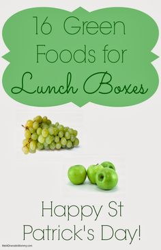 St. Patrick's Day Lunchbox Ideas | 16 Green Themed Foods for Your Kids