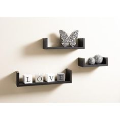 Bremen Set of 3 Floating Shelves. Visit us now and ENJOY 10% OFF + FREE SHIPPING on all orders - £12.99