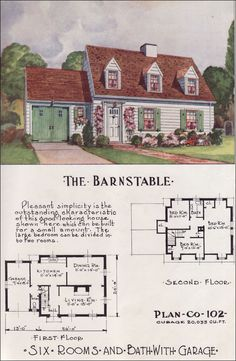 1950 Nationwide House Plan Service - The Barnstable